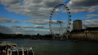 London Skyline With London Eye And Westminster On Thames River video
