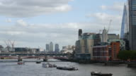 London Southwark And Canary Wharf From The West (UHD) video