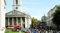 London St. Martin-in-the-Fields And Strand Road (4K/UHD to HD) video