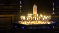 London St. Paul Cathedral candlelight - Stock Video video