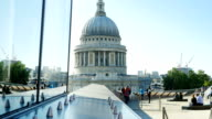 London St. Paul's Cathedral From Roof Garden (4K/UHD to HD) video