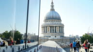 London St. Paul's Cathedral Viewed From Roof Garden (UHD) video