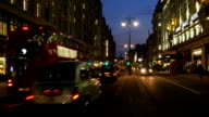 London Strand Road At Night (4K/UHD to HD) video