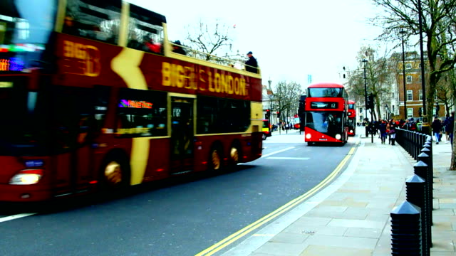 London street, bus video