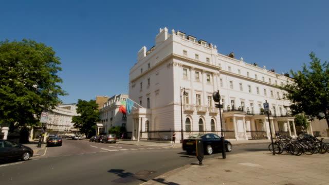 London street in summer video