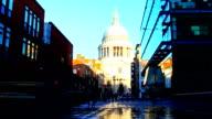 London street, St. Paul's Churchyard video