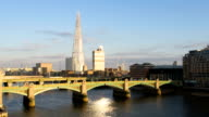 London sunset HD timelapse. The Shard and River Thames video