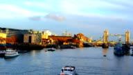 London. Thames river, day view. video