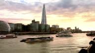 London, Thames river video