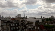London timelapse from Soho rooftop facing East video