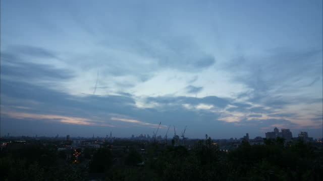London time-lapse from sunset to night video