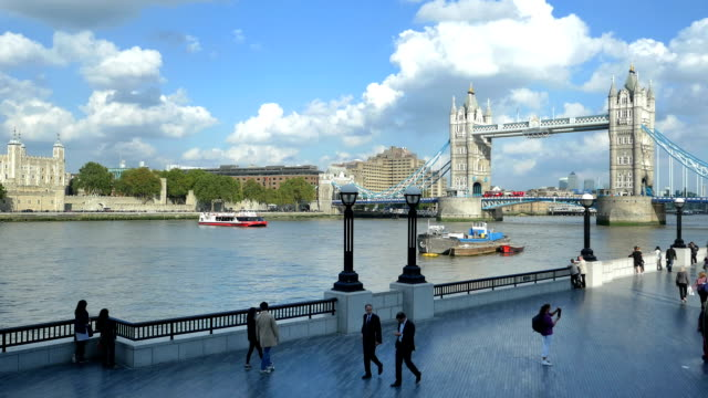 London Tower Bridge And The Queen's Walk (4K/UHD to HD) video