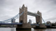 London Tower Bridge time lapse video