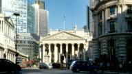 T/L London Traffic Around Royal Exchange video