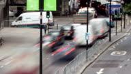 London Traffic from Bridge Autumn Day video