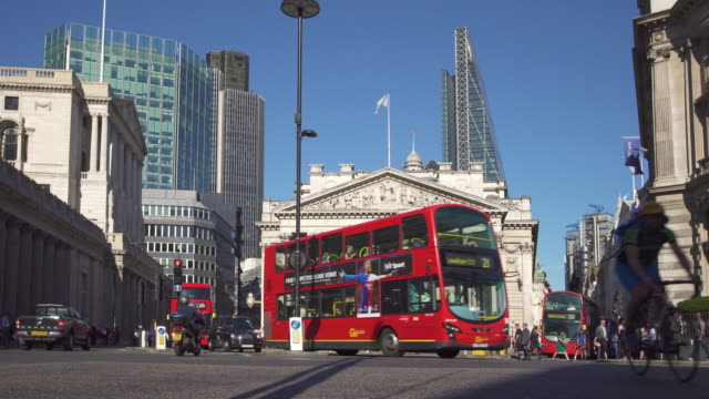 London, Traffic in Financial district video