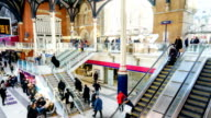 London train tube station in rush hour - time-lapse, England, UK video
