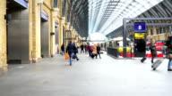 London train tube underground station, passengers in rush hour, England, UK video