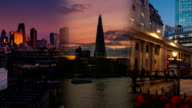 London Triptych Video Wall with Financial Landmarks video