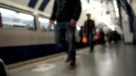 London Tube Underground train station video
