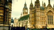 London, view to the Parliament and Big Ben video