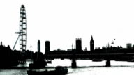 B/W London Viewed From The Northeast video