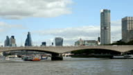 London Waterloo Bridge And The City video