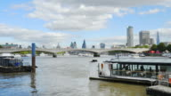 London Waterloo Bridge, The City And Southwark (UHD) video