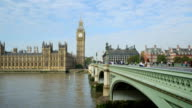 London Westminster Bridge And Big Ben (HD) video