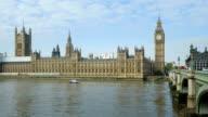 PAN London Westminster Bridge And Big Ben (4K/UHD to HD) video