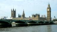 London Westminster Bridge And Big Ben (4K/UHD to HD) video