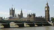 T/L London Westminster Bridge And Big Ben (4K/UHD) video