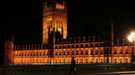 London Westminster Palace At Night video