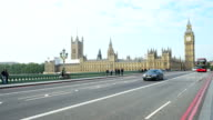 PAN T/L London Westmister Bridge And Houses Of Parliament video