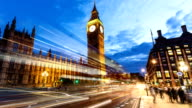 London with Big Ben at sunset, Time Lapse video