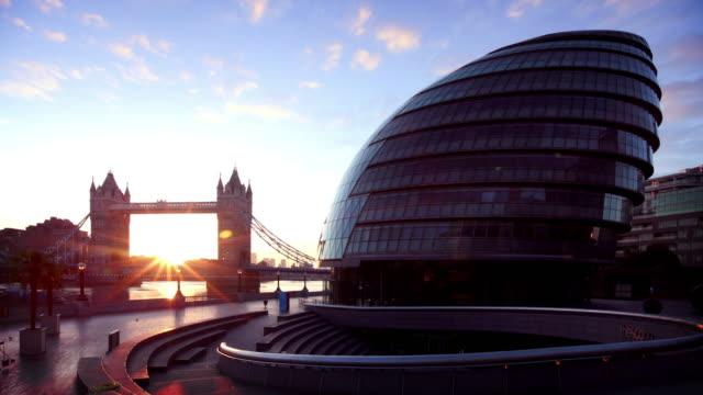 London's City Hall and Tower Bridge video