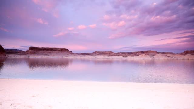 Lone Rock Beach at Dusk in Big Water Utah video