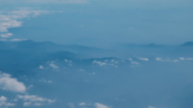 Lonely blue mountain in foggy , from Bangkok to Beijing. video