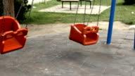 Lonely Swing in Kindergarten Park video