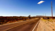 Long and empty road through the desert of Arizona video