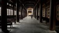 Long corridor with columns video