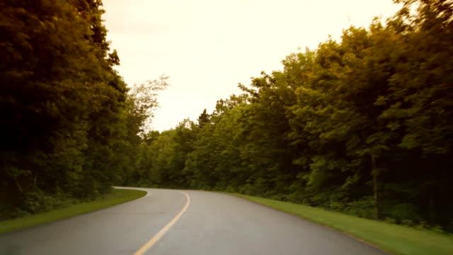 Long curving road. video
