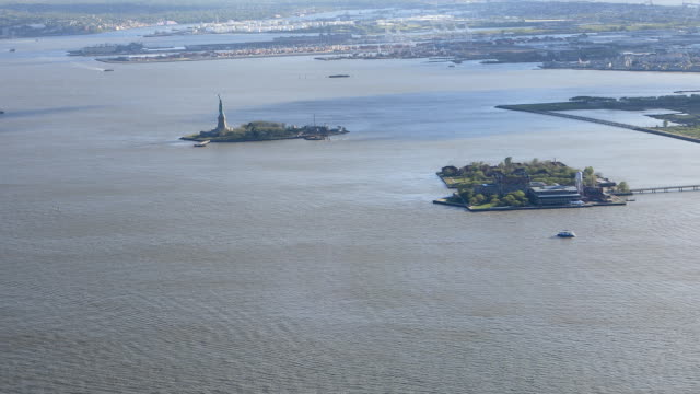 Long view of the Statue of Liberty video