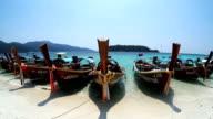 Longtail boat Andaman island video