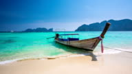 Longtail on a Thai Beach video