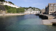 Looe river and town Cornwall England UK in summer video