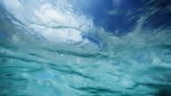 Look at the sky from underwater video