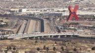 Looking down at Juarez, Mexico. video