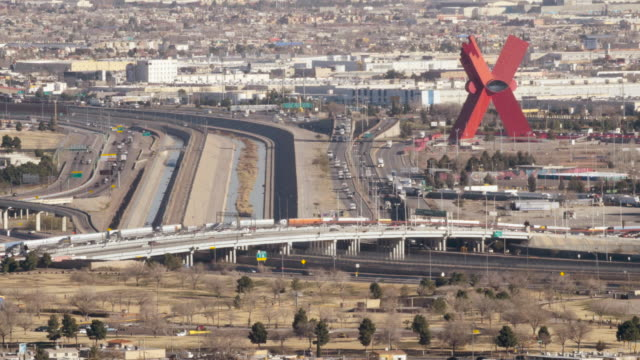 Looking down at Juarez, Mexico. video