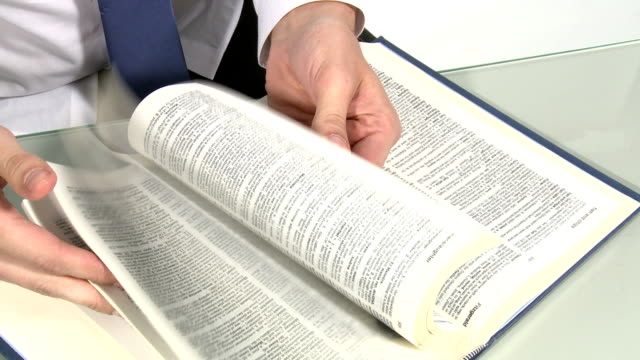 Looking in dictionary video
